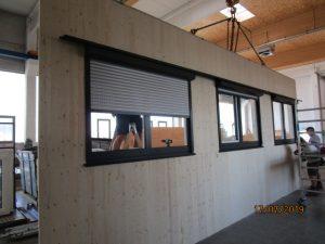 Fertigung der modularen Holzteile